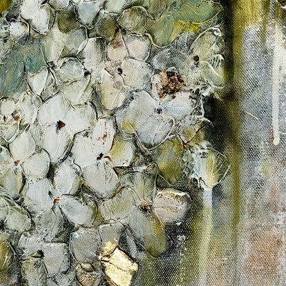 (CreativeWork) Melon &Mint Julep (reduced price) by Lisa Wisse-Robinson. Mixed Media. Shop online at Bluethumb.