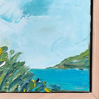 (CreativeWork) Turquoise Bay by Marnie McKnight. Oil Paint. Shop online at Bluethumb.