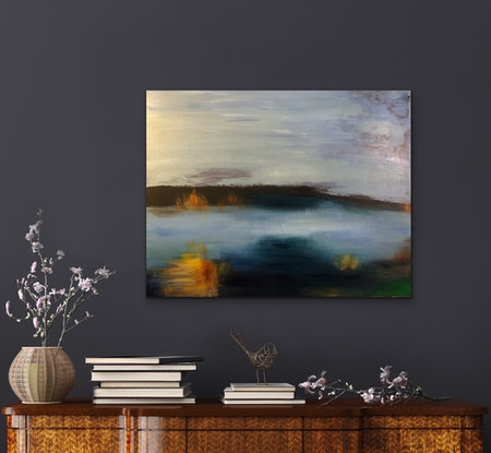 (CreativeWork)  Inspiration from Water Dreaming  by Elizabeth Varley. Acrylic Paint. Shop online at Bluethumb.