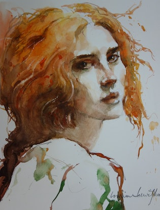 (CreativeWork) Red by Lorraine Lewitzka. Watercolour Paint. Shop online at Bluethumb.