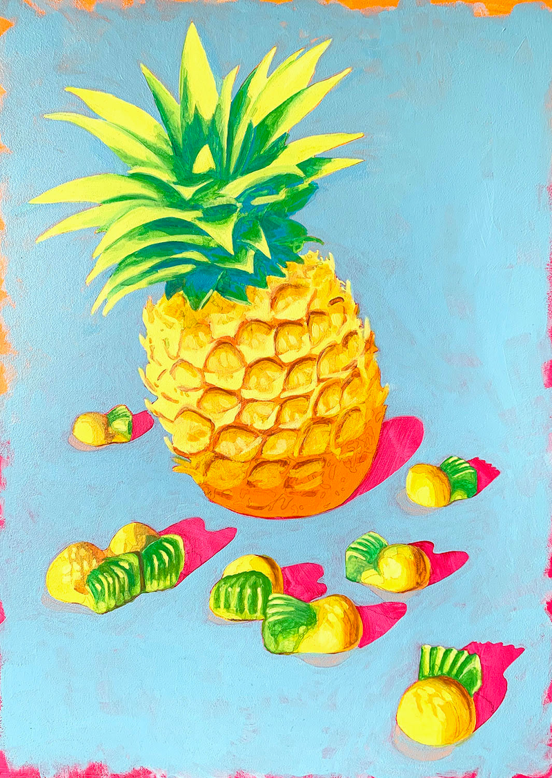 (CreativeWork) Sweeties #5 by Maz Dixon. Oil Paint. Shop online at Bluethumb.