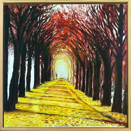 (CreativeWork) SANGUINE WALK by LOUISE GROVE WIECHERS. Acrylic Paint. Shop online at Bluethumb.