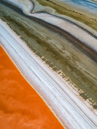 (CreativeWork) Great Southern Salt Lake Colours Ed. 1 of 20 by Craig Hammersley. Photograph. Shop online at Bluethumb.