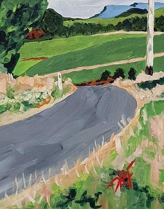 (CreativeWork) The Road to The Tarkine by David Foster. Acrylic. Shop online at Bluethumb.