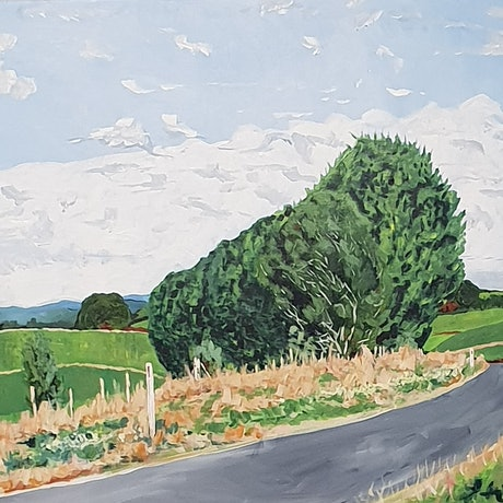 (CreativeWork) The Road to The Tarkine by David Foster. Acrylic Paint. Shop online at Bluethumb.