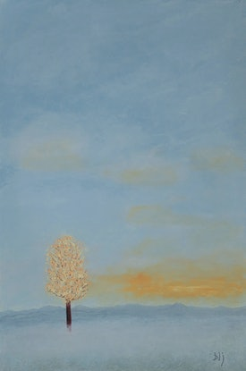 (CreativeWork) The Lifting Fog by Barry Johnson. Acrylic Paint. Shop online at Bluethumb.