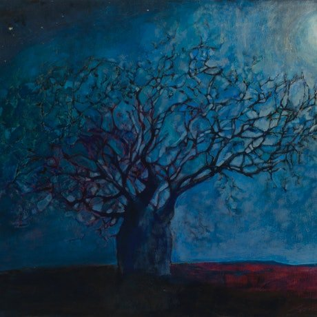 (CreativeWork) Still Of The Night by Bronwen Hunt. Oil Paint. Shop online at Bluethumb.