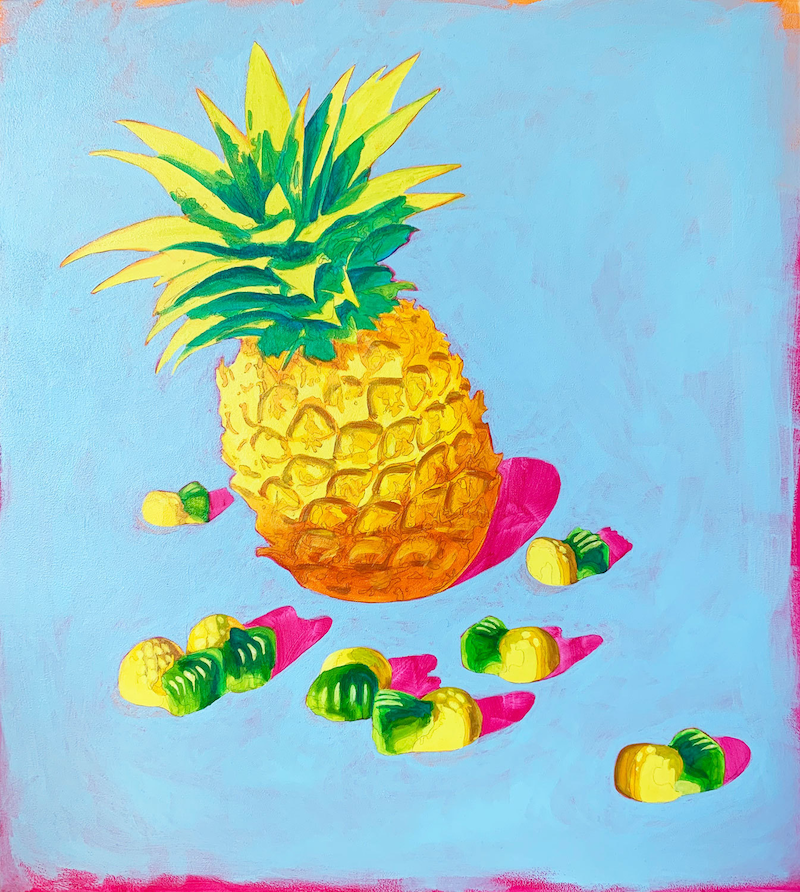 (CreativeWork) Sweeties #6 by Maz Dixon. Oil Paint. Shop online at Bluethumb.