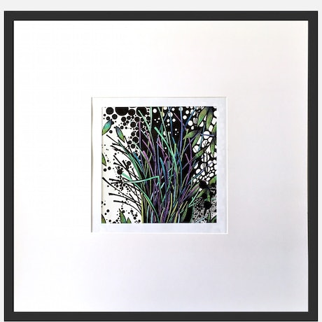 (CreativeWork) Green and Blue  Scrub by Tania Daymond. Drawings. Shop online at Bluethumb.