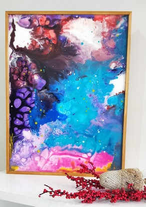 (CreativeWork) Connectedness Series No 4 by Kelly Hinds. Resin. Shop online at Bluethumb.