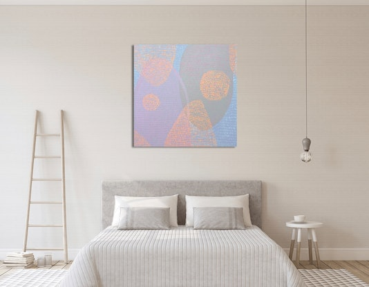 """(CreativeWork) """"The Lovers"""" by Abstract Momo. Acrylic Paint. Shop online at Bluethumb."""