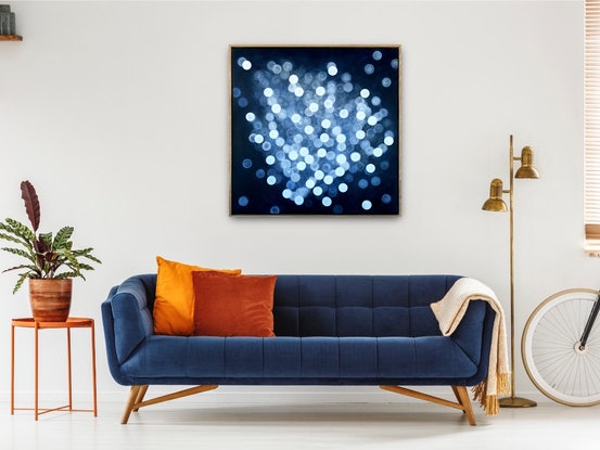 (CreativeWork) Aqueous Bloom Life Field VII - Original Abstract Painting Framed by Jacquelyn Stephens. Acrylic Paint. Shop online at Bluethumb.