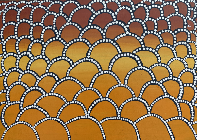 (CreativeWork) Tali (Sand Dune) 20-831 by Rose Nuggett. Acrylic Paint. Shop online at Bluethumb.
