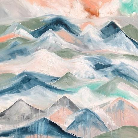 (CreativeWork) Great dividing range  by Amanda Brooks. Acrylic Paint. Shop online at Bluethumb.