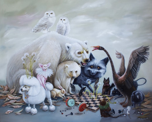 (CreativeWork) No Losers here | surrealism  by Yulia Pustoshkina. Oil Paint. Shop online at Bluethumb.