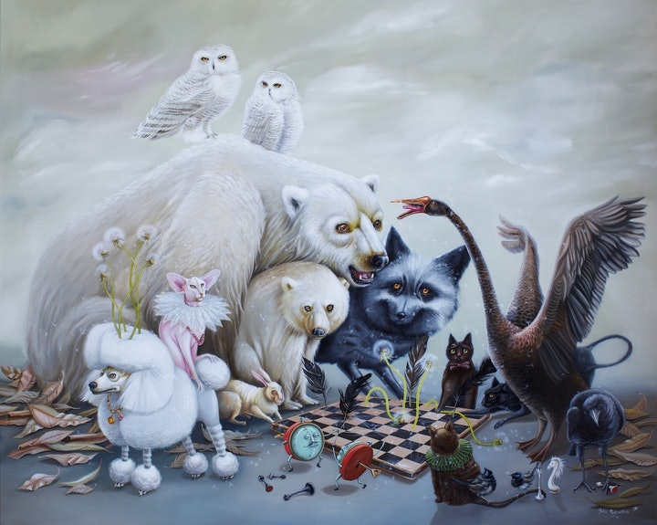 (CreativeWork) No Losers here   surrealism  by Yulia Pustoshkina. Oil Paint. Shop online at Bluethumb.