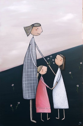 (CreativeWork) Pyjama Day - The Simple Life Series Revisited by Julie Robertson. Acrylic Paint. Shop online at Bluethumb.
