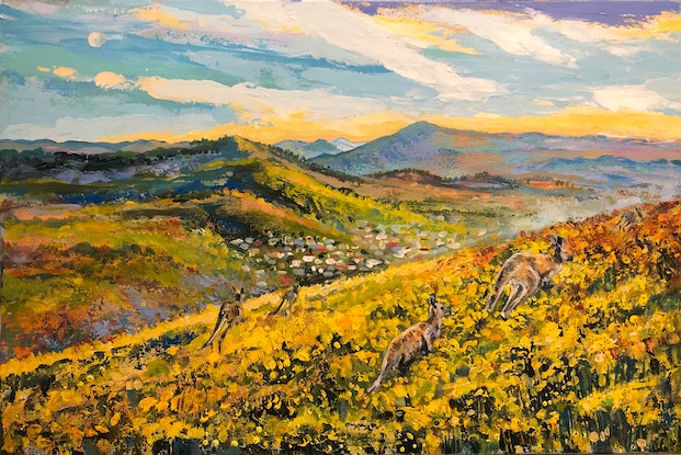 """(CreativeWork) """"855 meters above sea level."""" by Valentyna Crane. Acrylic Paint. Shop online at Bluethumb."""