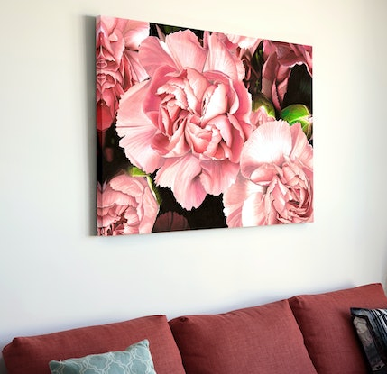 (CreativeWork) Shades of Pink - EXTRA LARGE STRETCHED CANVAS PRINT Ed. 20 of 50 by Erin Nicholls. Print. Shop online at Bluethumb.