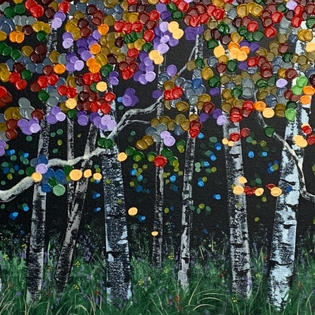 (CreativeWork) Aspen Pleasure by Tom Roso. Acrylic Paint. Shop online at Bluethumb.