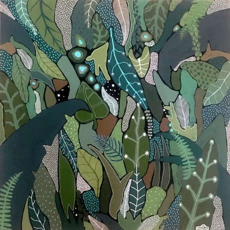 (CreativeWork) Starry Grove  by Angelika Pacek. Acrylic Paint. Shop online at Bluethumb.
