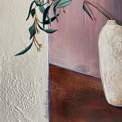 (CreativeWork) Eucalyptus Still Life  by Bonnie Larden. Acrylic Paint. Shop online at Bluethumb.