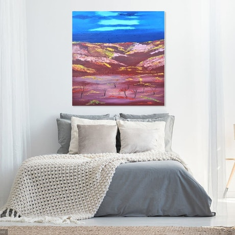 (CreativeWork) Winter In The Outback. by owen jones. Oil Paint. Shop online at Bluethumb.