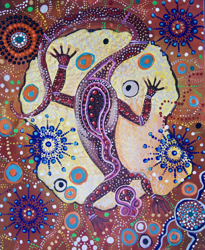 (CreativeWork) Murtoa Dreaming 2 by Cynthia Farr BARUNGGUM. Acrylic Paint. Shop online at Bluethumb.