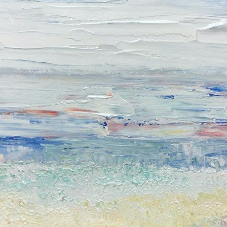 (CreativeWork) White Shores - seascape by Tina Barr. Acrylic Paint. Shop online at Bluethumb.