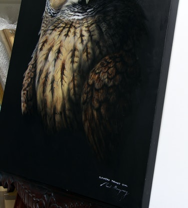 (CreativeWork) European Tawny Owl by Paul Margocsy. Mixed Media. Shop online at Bluethumb.