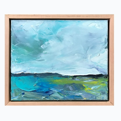 (CreativeWork) Teal Clouds by Marnie McKnight. Oil Paint. Shop online at Bluethumb.