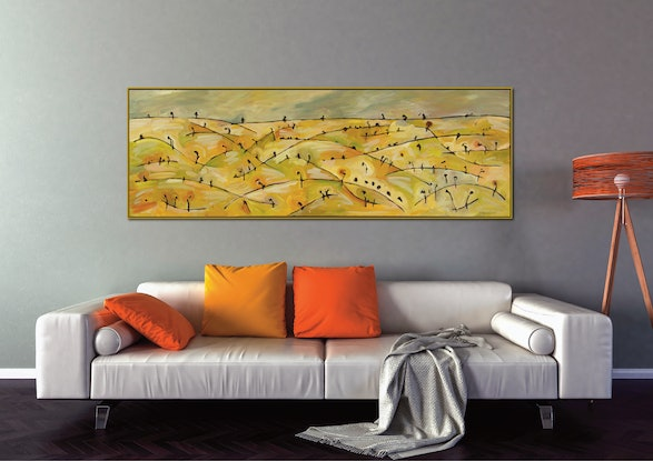 (CreativeWork) Harmony Way I by Michael Wolfe. Acrylic Paint. Shop online at Bluethumb.