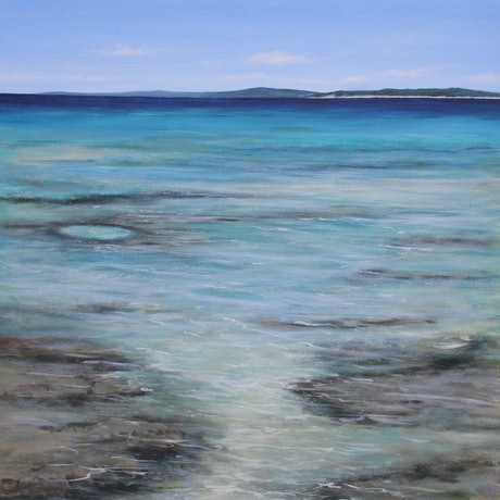 (CreativeWork) Tidal Flow  by Ann Steer. Acrylic Paint. Shop online at Bluethumb.