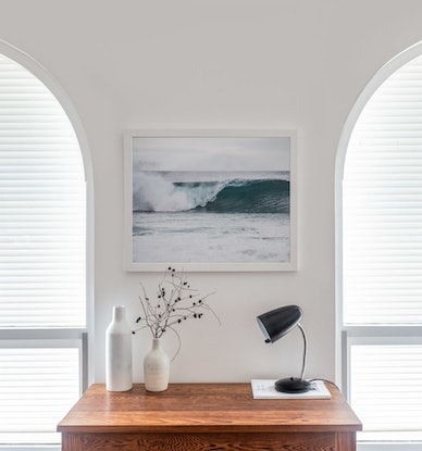 (CreativeWork) Surfers blue wave Ed. 1 of 5 by Wendy Philip. Photograph. Shop online at Bluethumb.