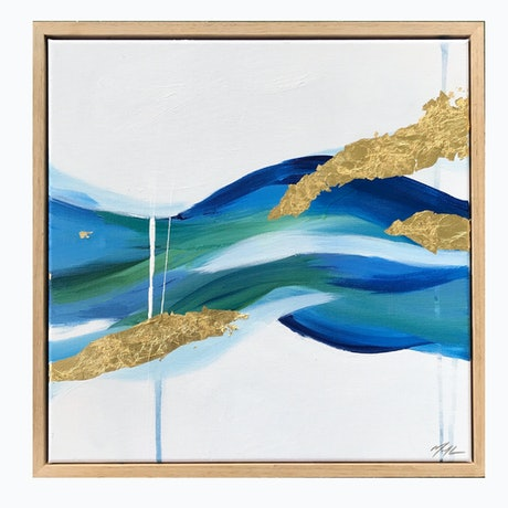 (CreativeWork) River Swim (A) by Marnie McKnight. Acrylic Paint. Shop online at Bluethumb.