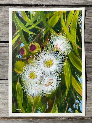(CreativeWork) Gentle Distraction  by Kate Gradwell. Acrylic Paint. Shop online at Bluethumb.