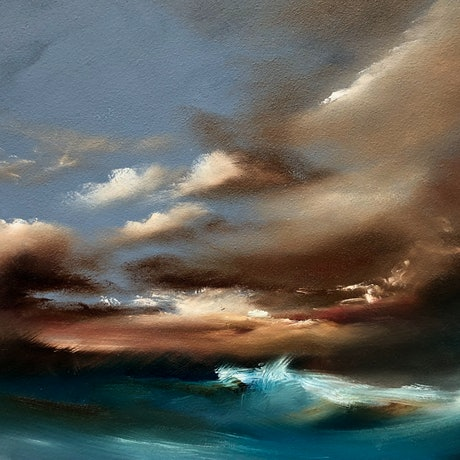 (CreativeWork) Winter's Ocean by Joanne Duffy. Oil Paint. Shop online at Bluethumb.
