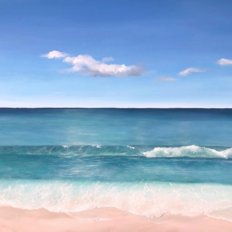 (CreativeWork) Into the Blue by Jessie Wheldon. Acrylic Paint. Shop online at Bluethumb.