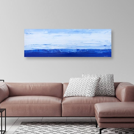 (CreativeWork) Deep blue ocean - seascape by Tina Barr. Acrylic Paint. Shop online at Bluethumb.