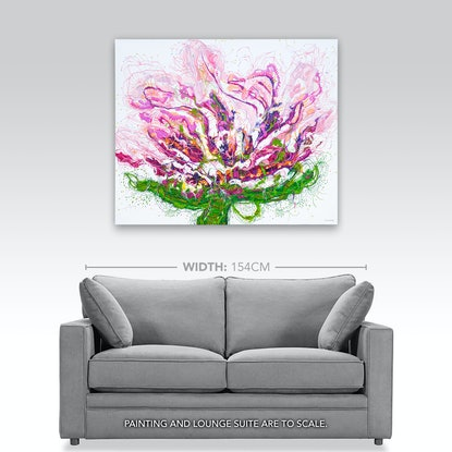 (CreativeWork) Penny Peony by Tina Dinte. Acrylic Paint. Shop online at Bluethumb.