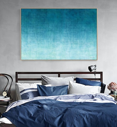 (CreativeWork) Rising Tide Framed 140 x 95cm by George Hall. Mixed Media. Shop online at Bluethumb.