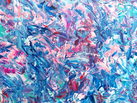 (CreativeWork) Number 72 by Estelle Asmodelle. Acrylic. Shop online at Bluethumb.