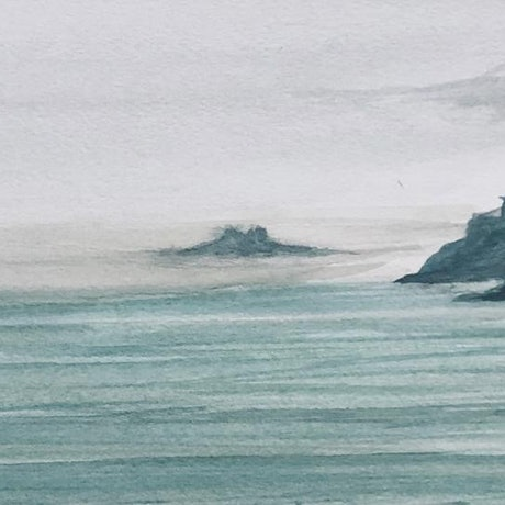 (CreativeWork) St Brelades Bay by Shabs Beigh. Mixed Media. Shop online at Bluethumb.