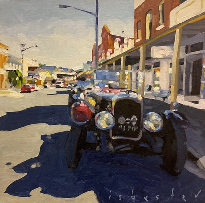 (CreativeWork) Visiting the Past by David Isbester. Oil Paint. Shop online at Bluethumb.