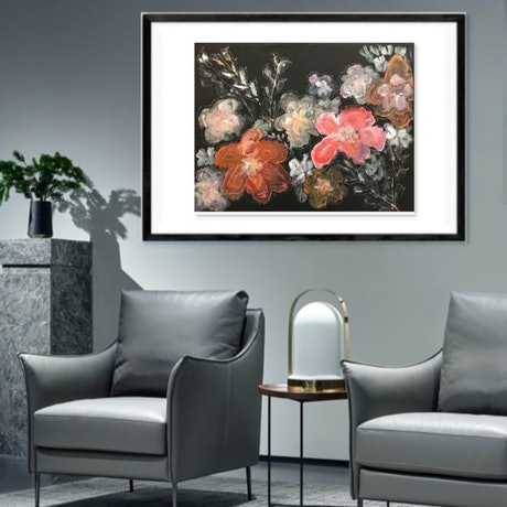 (CreativeWork) Blooming Flower by Taari T. Mixed Media. Shop online at Bluethumb.