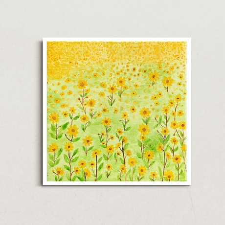 (CreativeWork) Flowerland 1 by @theplant _kingdom. Watercolour. Shop online at Bluethumb.