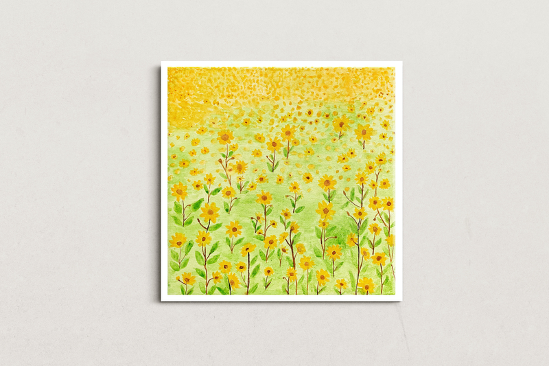 (CreativeWork) Flowerland 1 by @theplant _kingdom. Watercolour Paint. Shop online at Bluethumb.
