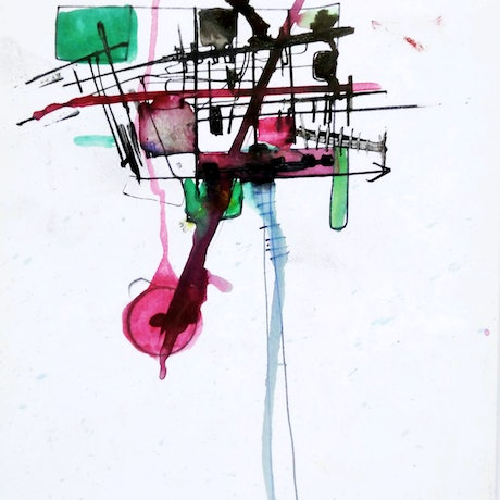 (CreativeWork) Beyond Fabricated Constructions13.  Abstract, mixed media, drawing, painting. (unframed) (Framing Available)    by Jenny Davis. Mixed Media. Shop online at Bluethumb.