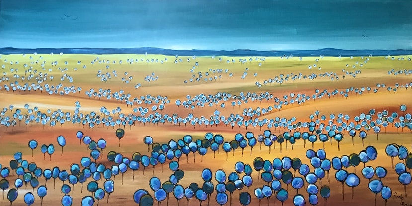 (CreativeWork) Mallee country by Ron Brown. Acrylic Paint. Shop online at Bluethumb.