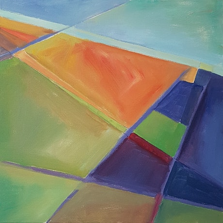 (CreativeWork) AERIAL LANDSCAPE by Suzy Strout. Acrylic Paint. Shop online at Bluethumb.